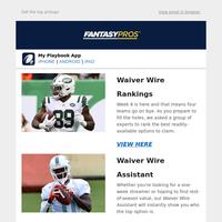 Week 6 Waiver Wire Rankings