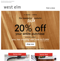 It's ON: The Awesome Autumn Sale is here