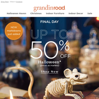 |Last Day| up to 50% OFF Halloween with NEW just added