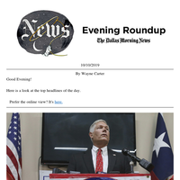 Pete Sessions and Ukraine, Botham Jean street name petition, Coach Aikman: Your Thursday evening roundup