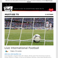 Don't miss: Live International Football at 7:00pm on ITV London