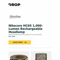 Nitecore HC65 1,000-Lumen Rechargeable Headlamp, Carbon Tactics Epoch Quick-Release Belt, Zippo Lighters: Autumn Luxury Collection and more...