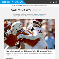 Five takeaways from Oklahoma''s 34-27 win over Texas