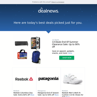 Your DealNews: 13 Deals End Of Summer Clearance Sale: Up to 90% off & More