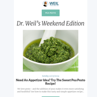 Need An Appetizer Idea? Try The Sweet Pea Pesto Recipe!