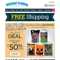 S.O.S. Today Only: Save up to 50% on Halloween Candy | Free Shipping!
