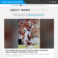 OU football journal: Jalen Hurts reveals something about himself in Red River Rivalry win