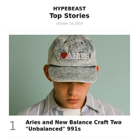 Your Top Stories: Aries and New Balance Craft Two \