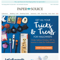 Get Your Tricks + Treats In Time For Halloween!
