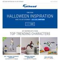 Find your Halloween costume inspiration with Fathead.