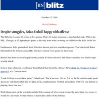 Despite struggles, Brian Daboll happy with offense