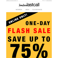 ⚡ FLASH SALE ⚡1 DAY ONLY ⚡ up to 75% off
