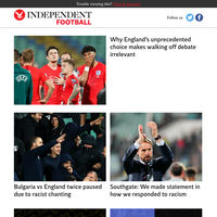 Why England's unprecedented choice makes walking off debate irrelevant