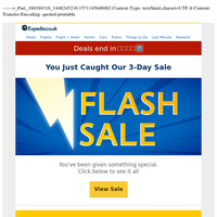 ◎ Urgent: You've been sent THIS special (FLASH SALE »)