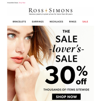 30% Off Starts Now! The Sale-Lovers-Sale