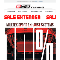 Sale Extended - Win a Trip to the Nurburgring + 10% Off Milltek