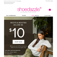 (1) Unread Message: Boots & Booties On Sale