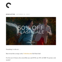 Criterion Flash Sale: 50% off all Blu-rays and DVDs