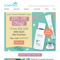 Last 4 Hours: 25% Off Obagi Anniversary Sale + Free Gift!