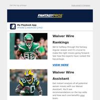 Week 7 Waiver Wire Rankings
