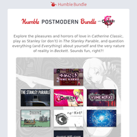 Think beyond modernism with the Humble Postmodern Bundle with Catherine Classic!