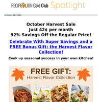 Special Harvest Sale Ends Tomorrow