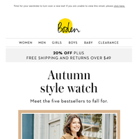 5 autumn pieces you need (in one handy email)