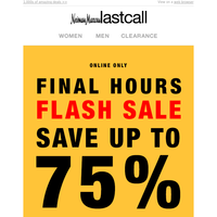 ⚡ FLASH SALE ⚡ 1 DAY ONLY ⚡ up to 75% off