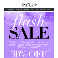 Friends & Family FLASH SALE... 30% Off! ⚡