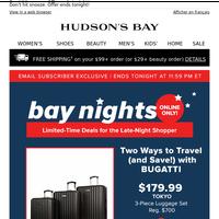 Bay Nights 🌙 Bugatti luggage is on sale