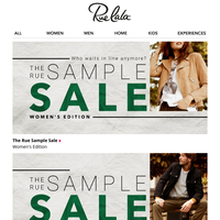 The Rue Sample Sale is here!!! (We can't contain our excitement.)