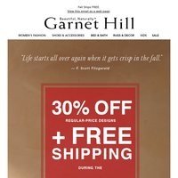 Free Shipping + 30% Off — Shop the Private Sale
