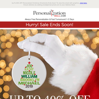 40% Off Christmas Ornament Sale Ends Soon