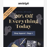 {Halloween Sale} Grab 20% Off Everything Today
