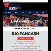 Hurry! Your $10 FanCash Expires SOON