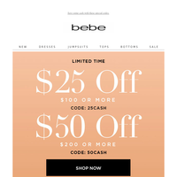 Bebe Rexha rocks our new party look. Get $50 off.
