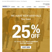 25% OFF + SALE Boots, Comfort & More!
