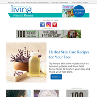 Herbal Skin Care Recipes for Your Face