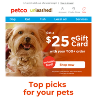 Oh no! You almost missed your eGift card offer!