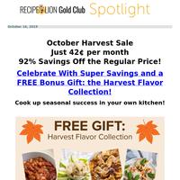 Last Chance: Harvest Sale Ends Now