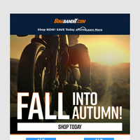 Fall into Autumn: See Our New Gear For Your Ride