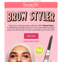 Meet our NEWEST brow sensation, Brow Styler!