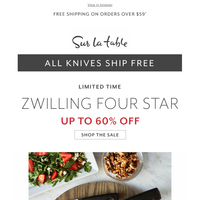 Chop Like a Chef—up to 60% Off + Free Shipping