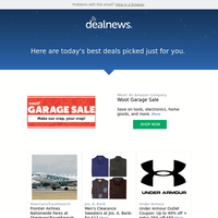 Your DealNews: Woot Garage Sale & More