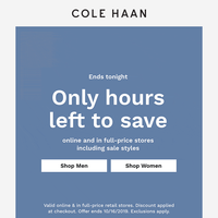 Final hours to save!