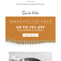 Warehouse Sale: Cookware Sets up to 75% Off
