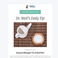 Autumn Allergies? Try A Neti Pot!