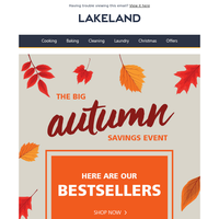 These autumn deals are selling like hot cakes