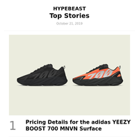 Your Weekly Round-Up: Pricing Details for the adidas YEEZY BOOST 700 MNVN Surface and More