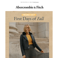 Autumn is officially trending.